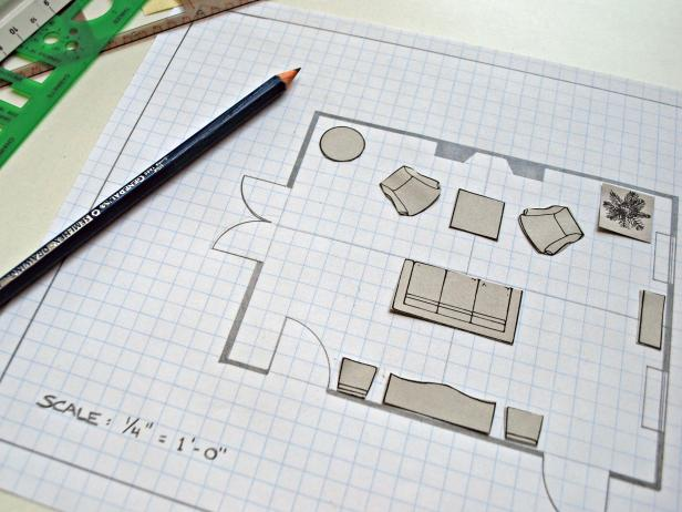 Rozkreslený plán miestnosti